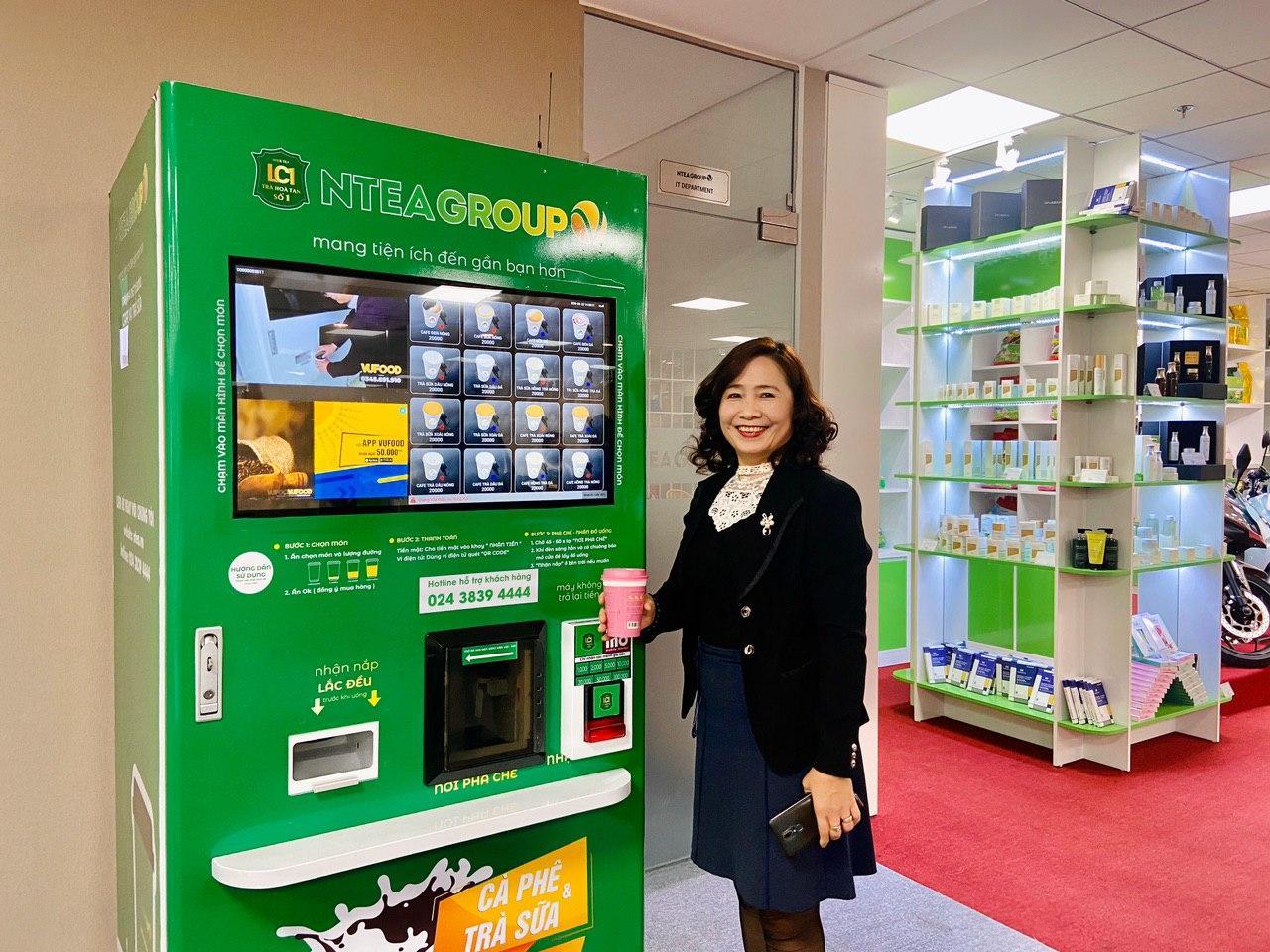 Máy bán hàng tự động phục vụ CBNV tại văn phòng NTEA